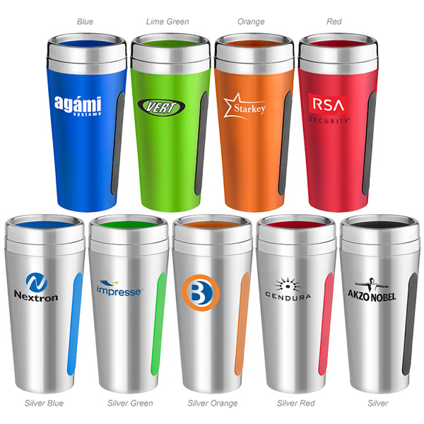 Custom 15 oz. Dual-Grip Travel Tumbler