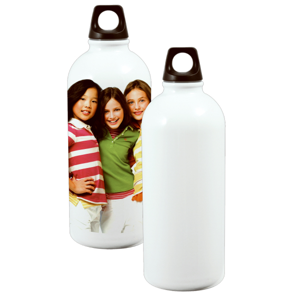 Promotional 600ml Stainless Steel Bottle - Round Bottom - White