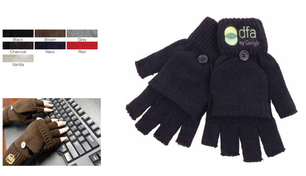 Personalized Fingerless gloves with flap