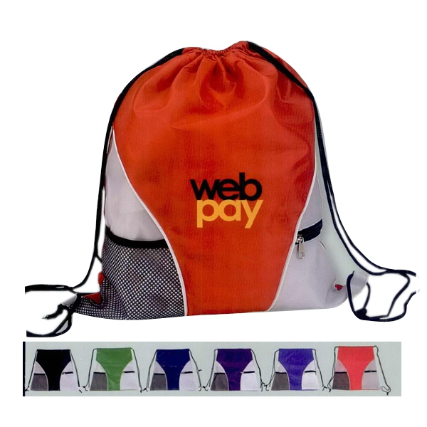 Personalized Drawstring bag with mesh
