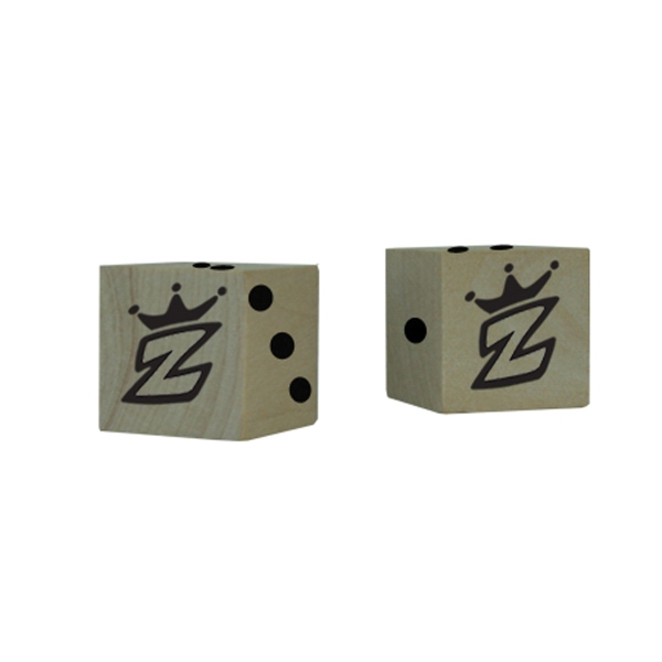"Promotional 3/4"" Custom Wooden Dice"