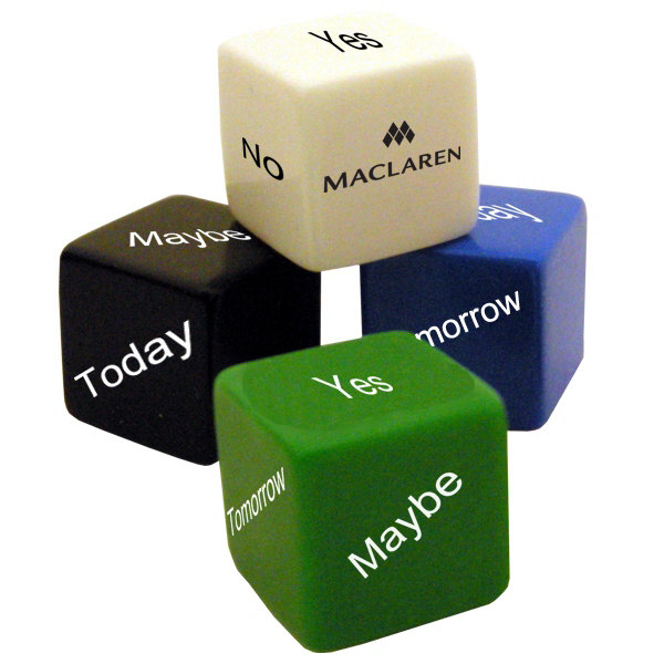 Custom Early American Decision Maker Dice