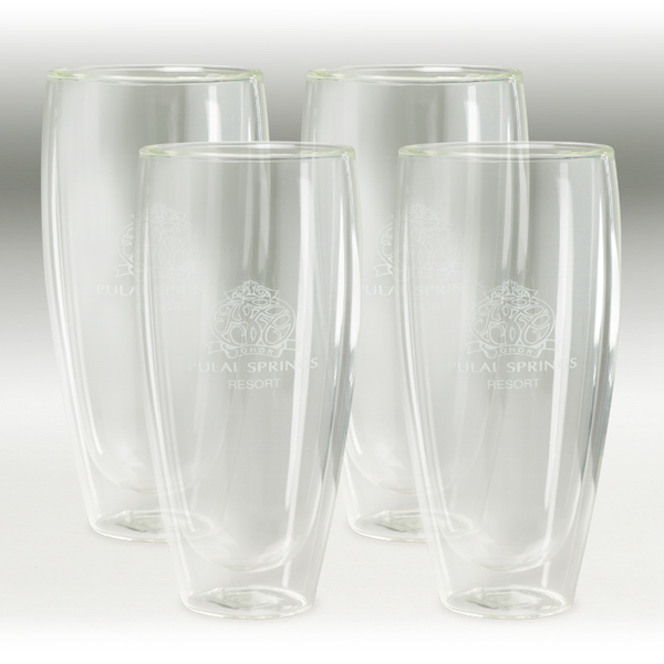 Imprinted Binara 22 oz. 4 Piece Glass Gift Set