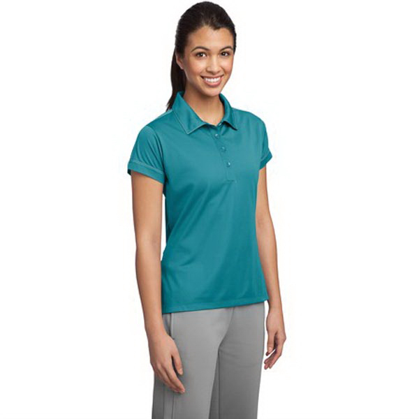 Custom Ladies' Contrast Stitch Micropique Sport-Wick (R) polo