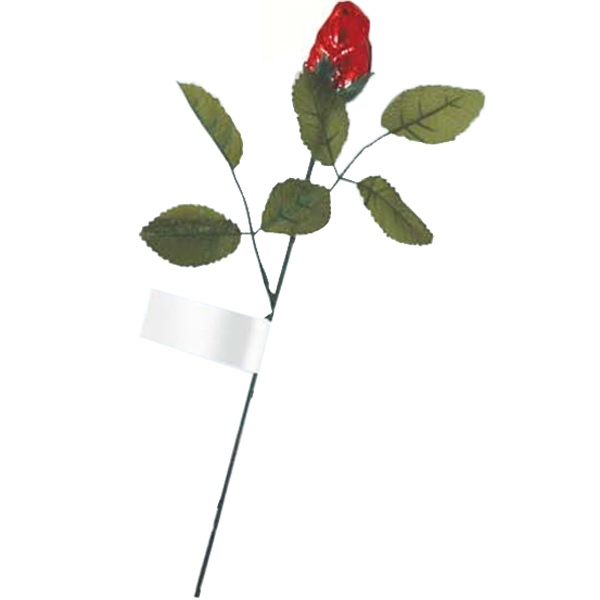"Promotional Red Foiled Milk Chocolate Rose on a 12"" Stem"