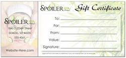 "Imprinted Gift Certificate - 4"" x 9"""
