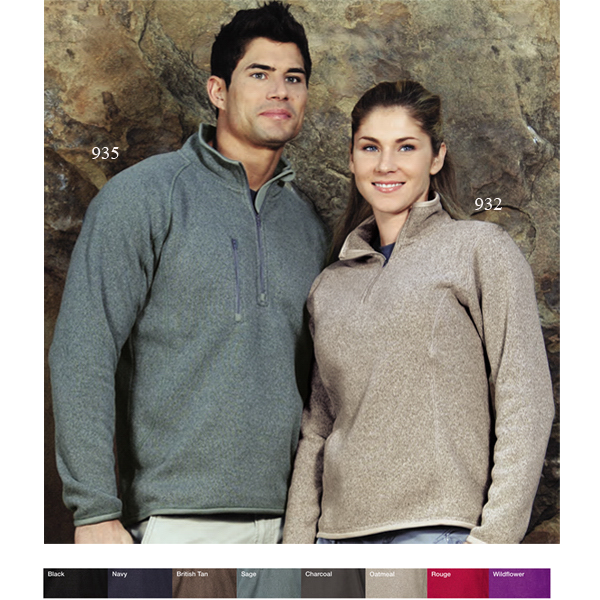 Promotional Ramsay - Women's 1/4-zip Sweater Pullover