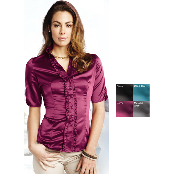 Custom Juliet - Women's Short Sleeve Woven Shirt