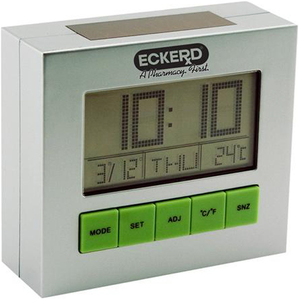Promotional Solar powered desk clock