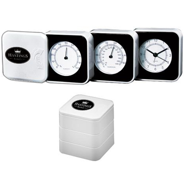 Promotional Fold-out weather station with alarm clock
