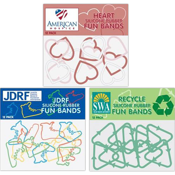 Imprinted Custom shape silicone fun bands