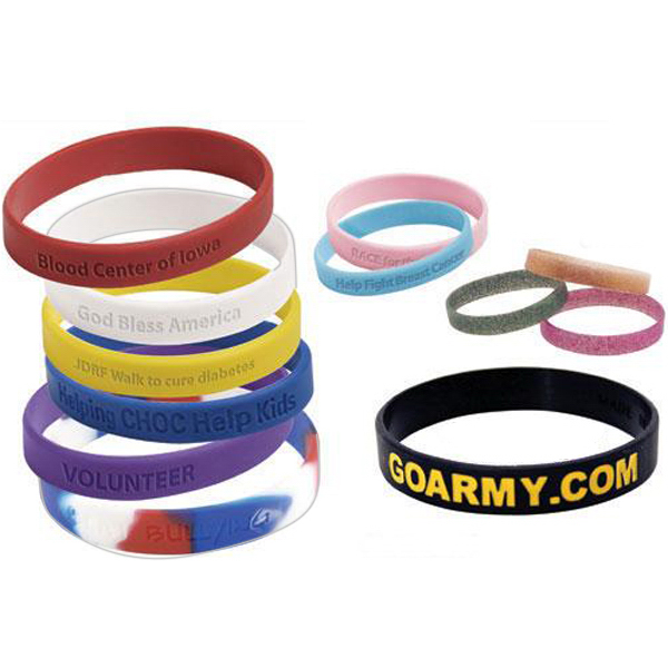 Promotional Custom silicone rubber wristband