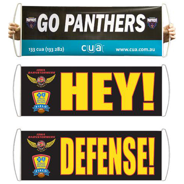 Imprinted Retractable hand banner