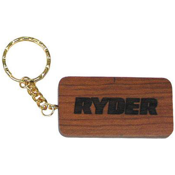 Personalized Rectangular laser-etched key tag