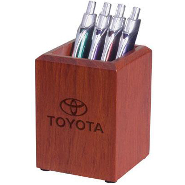 Printed Large desk pen/pencil holder in rosewood