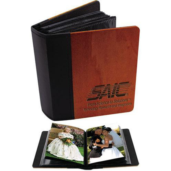 "Promotional 4"" x 6"" rosewood photo album"