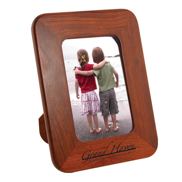 "Imprinted 4"" x 6"" Solid Wood Photo Frame With Easel Back"