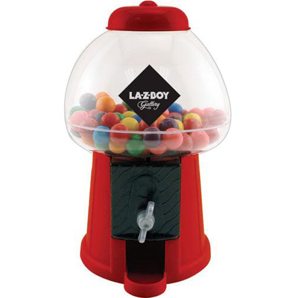 "Customized 8"" desktop gumball coin bank"