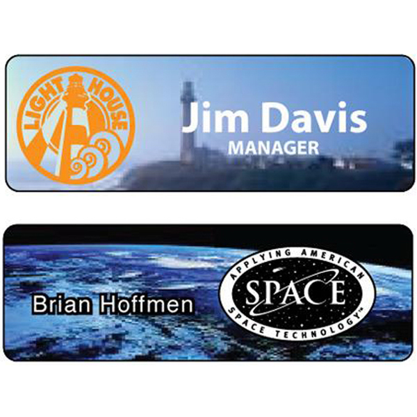 "Promotional 1"" x 3"" Full color sublimation name badge"