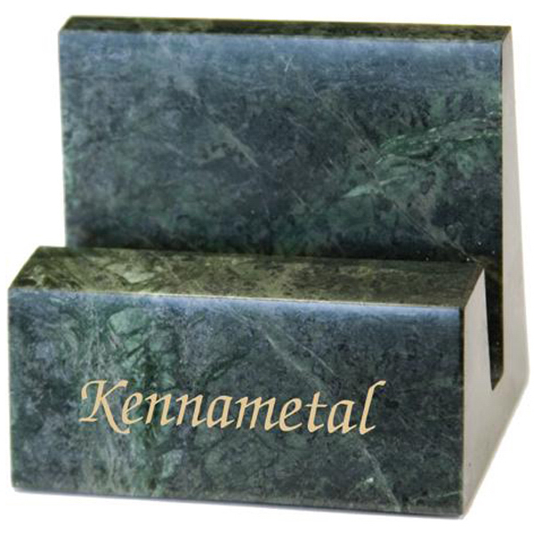Imprinted Marble business card holder