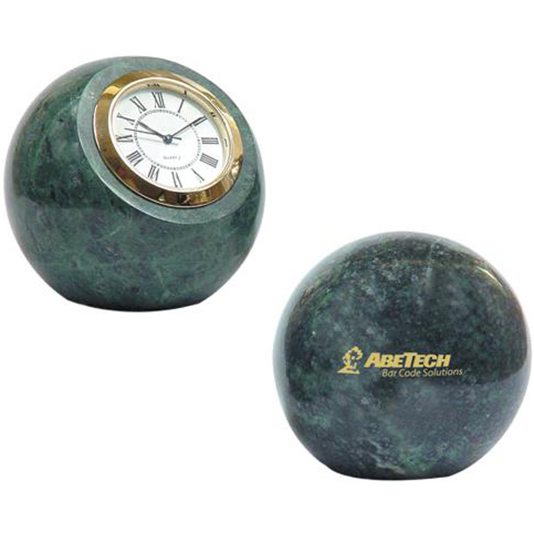 Custom Marble ball paperweight with clock