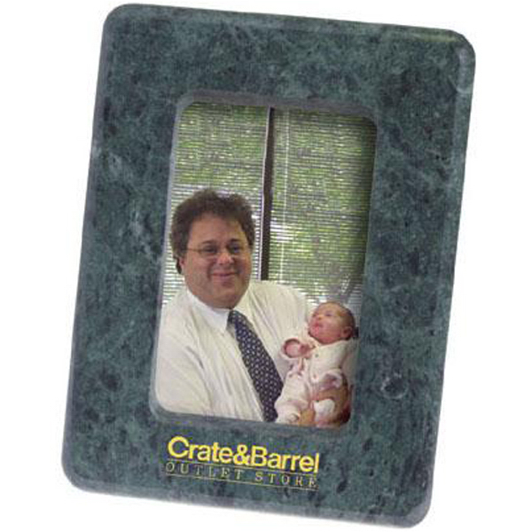 "Personalized Marble 3 1/2"" x 5"" photo frame with easel back"