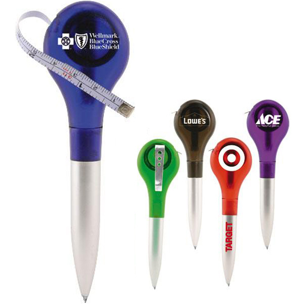 Promotional Lollipop tape measure ballpoint pen