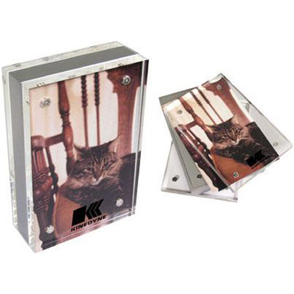 "Printed 5 1/4"" x 3 1/2"" magnetic acrylic photo frame"