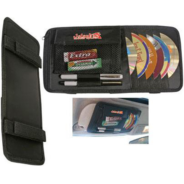 Imprinted Multipurpose CD/DVD visor caddy