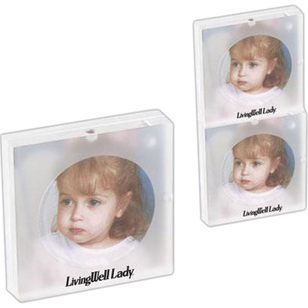 "Imprinted 3"" x 3"" Acrylic magnetic stacking photo frame"