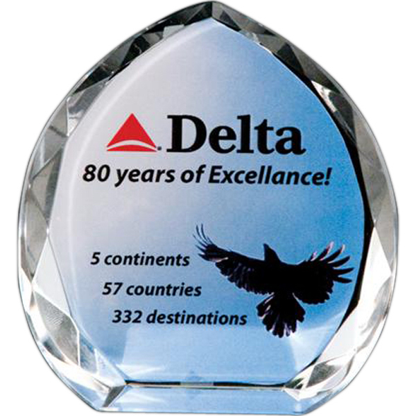 Personalized Full-color lead crystal arrowhead award