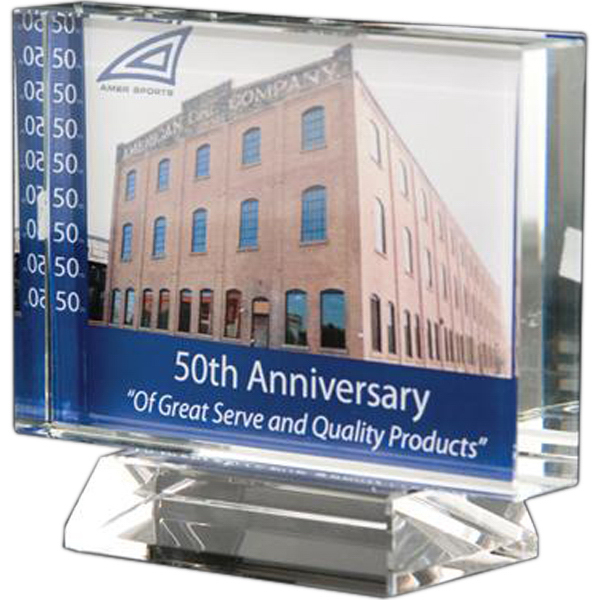 Customized Lead crystal horizontal/vertical rectangle award with base