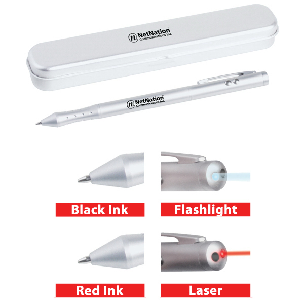 Promotional 4-in-1 laser/flashlight pen
