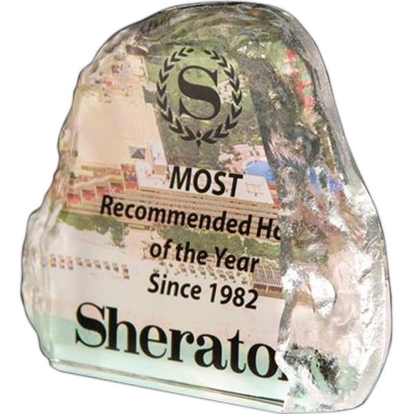 Personalized Full-color lead crystal mountain iceberg award