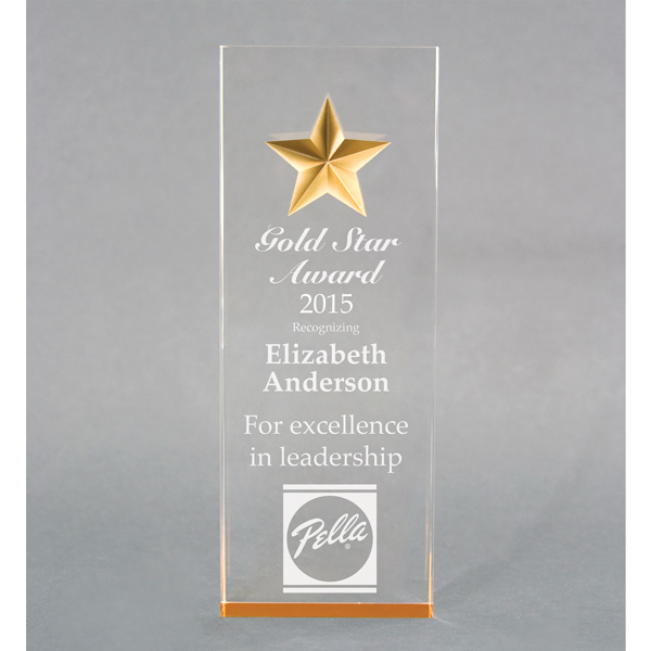 Custom Acrylic tapered star award