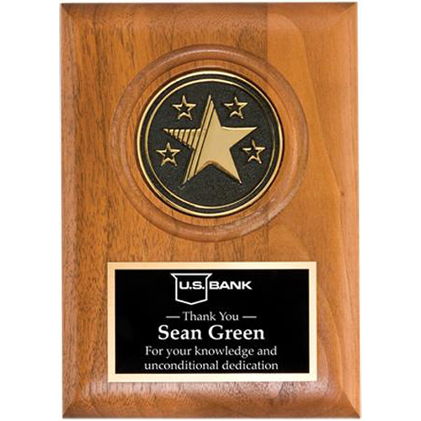 Printed Small star medallion plaque