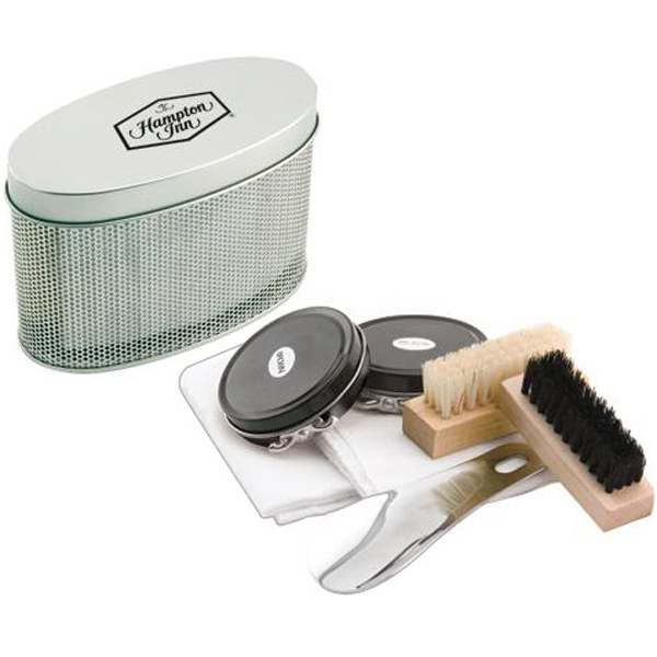 Imprinted 7-piece shoe shine kit