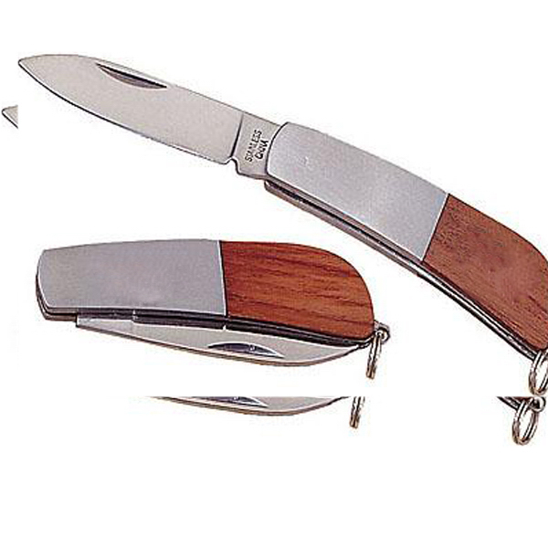 Promotional Stainless steel/walnut pocket knife