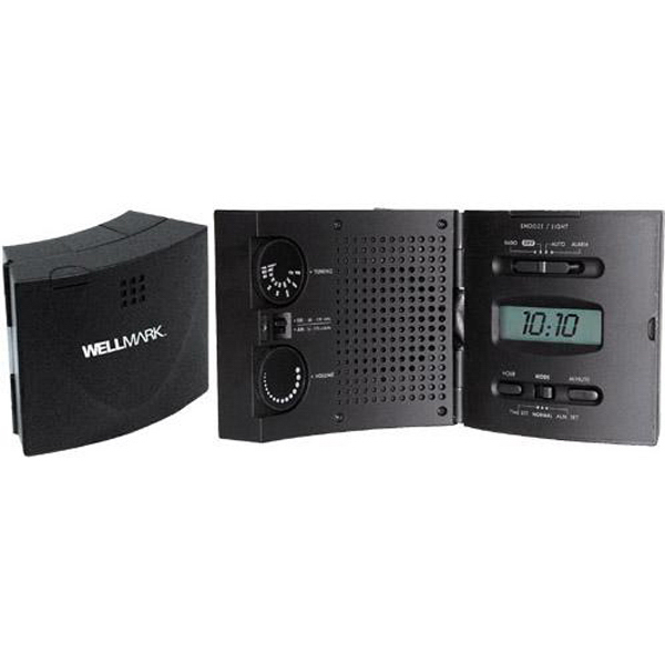 "Personalized AM/FM ""Wave"" radio and lighted alarm clock"