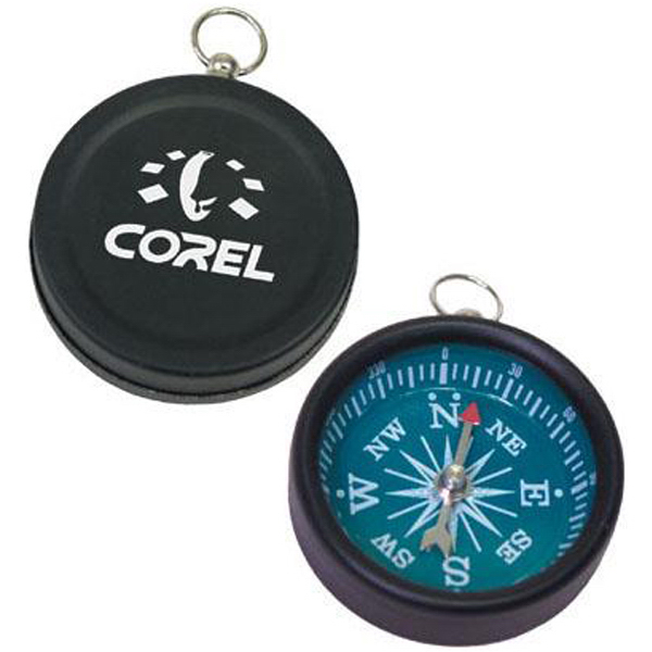 Promotional Black brass compass