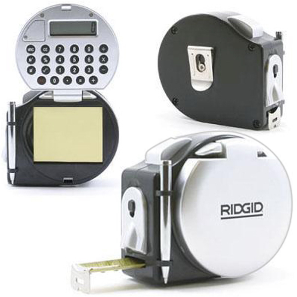 Promotional Tape measure/calculator/LED light/notepad