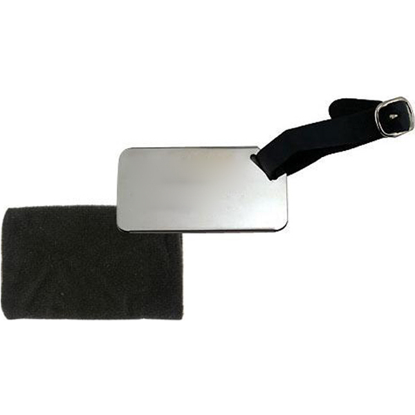 Imprinted Stainless steel luggage tag