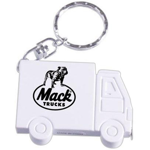 Promotional Truck shaped tape measure keychain
