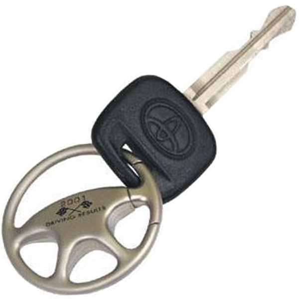 Imprinted Formula One steering wheel key holder