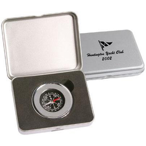 Promotional Chrome plated compass paperweight