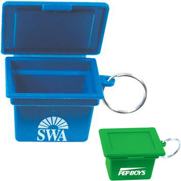 Imprinted Mini recycling box key ring