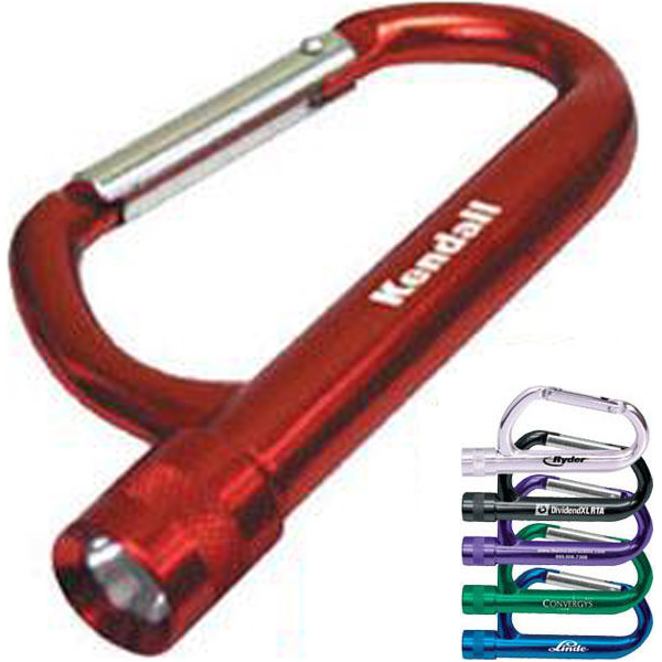 Promotional Forged aluminum carabiner flashlight