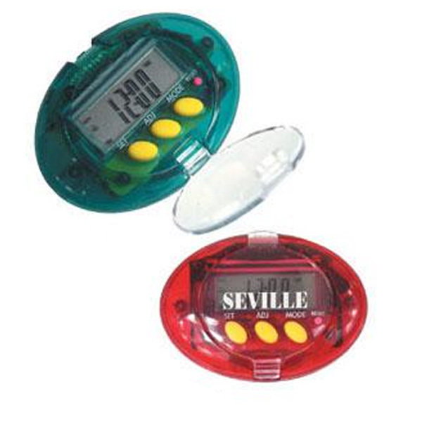 Promotional 5-in-1 electronic step counter pedometer