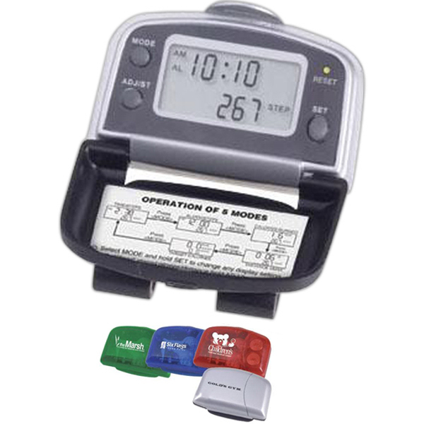 Printed 5-function executive pedometer
