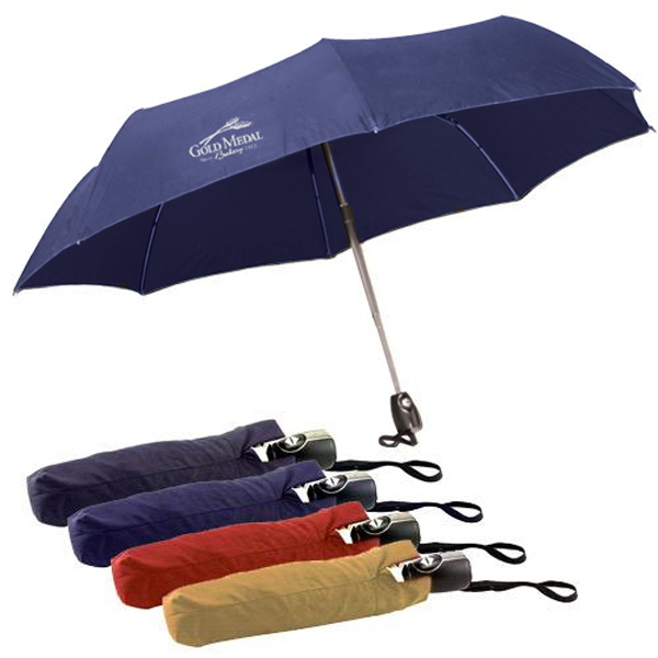 "Printed 43"" Auto-open and close mini umbrella with case"